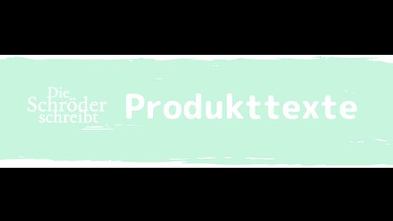 Banner Produkttexte